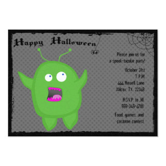 Monster and Spider Halloween Party Invitation