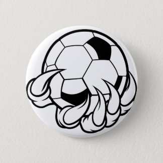 Monster animal claw holding Soccer Football Ball Button