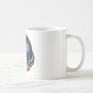 Monster animal claw holding Ten Pin Bowling Ball Coffee Mug