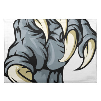 Monster animal claw place mats
