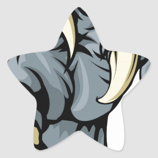 Monster animal claw star sticker