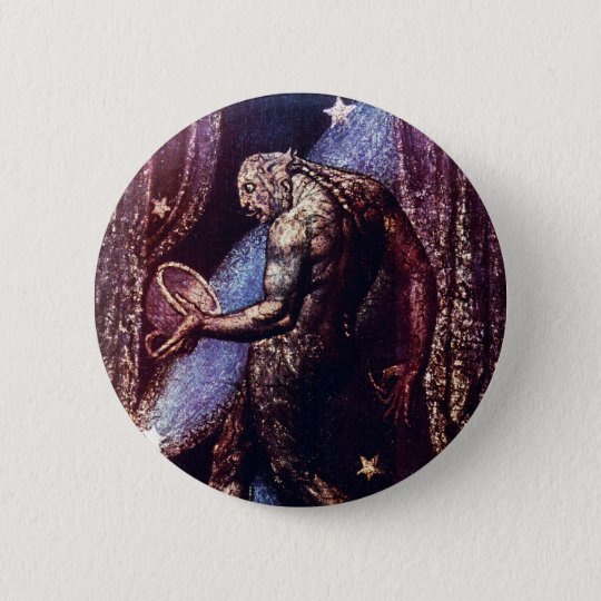 Monster Art:  Ghost of a Flea by William Blake Pinback Button