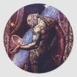 Monster Art:  Ghost of a Flea by William Blake Classic Round Sticker