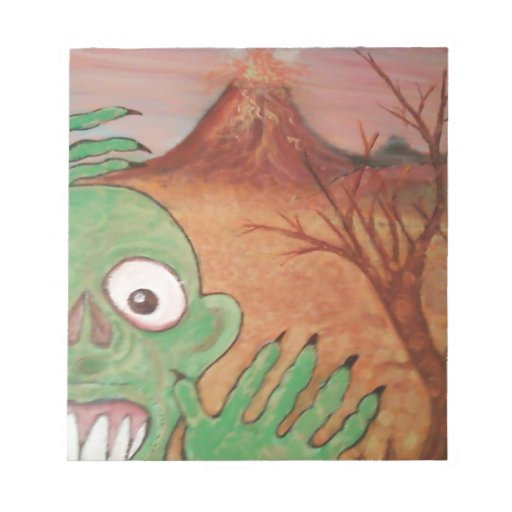monster art note pad