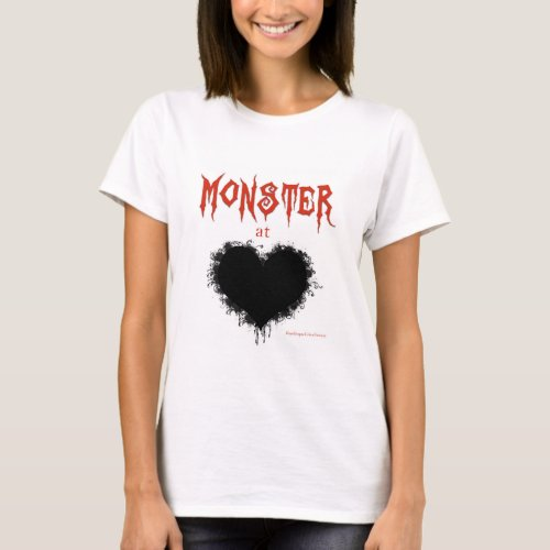 Monster at Heart Shirt Red Lettering