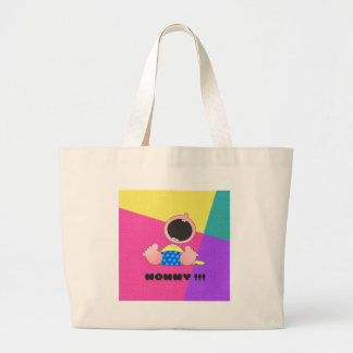 Monster Baby Boy Canvas Bags