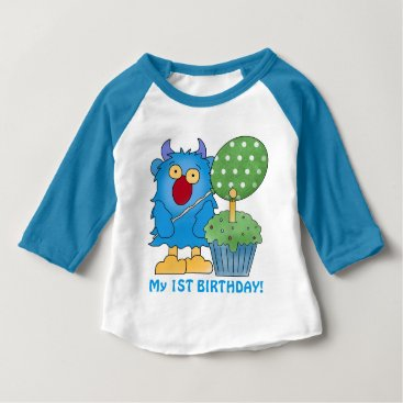 doodlesgifts Monster baby first birthday baby T-Shirt