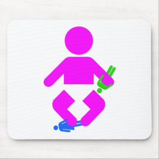 Monster baby mouse pad