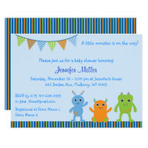 Monster Baby Shower Card