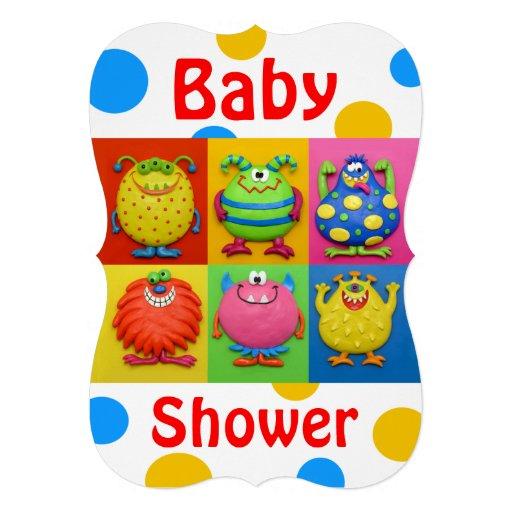 Monster Baby Shower Card