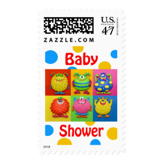 Monster Baby Shower Postage