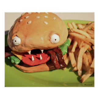 Monster Bacon Cheeseburger Poster