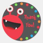 Monster Bash 3 Stickers Round Sticker