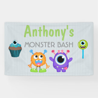Monster Bash any age personalized Banner