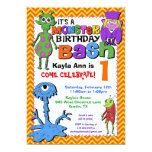 Monster Bash Birthday Party Invitation - Red