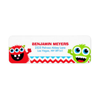 Monster Bash Birthday Party Label