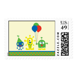 Monster Bash Birthday Party Postage