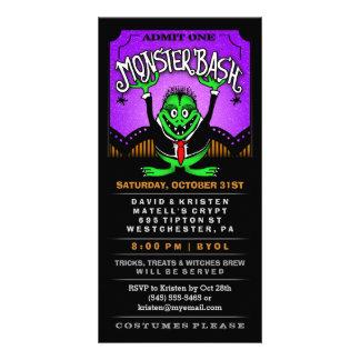 Monster Bash Halloween Fun Invite Ticket