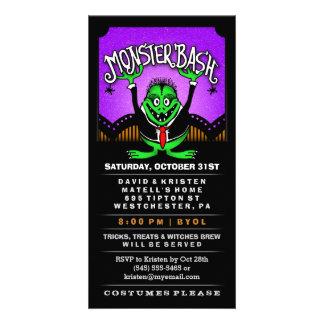 Monster Bash Halloween Fun Vertical Invitation