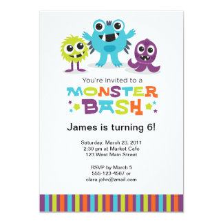 Monster Bash Invitation