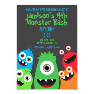Monster Bash Kids Birthday Party Invitations