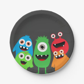 Monster Bash Paper Plate