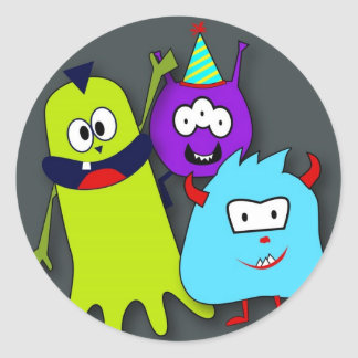 Monster Bash Round Stickers