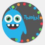 Monster Bash Stickers Round Sticker