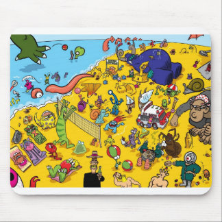 Monster Beach by StiK Mouse Pad