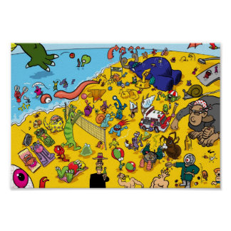 Monster Beach Poster
