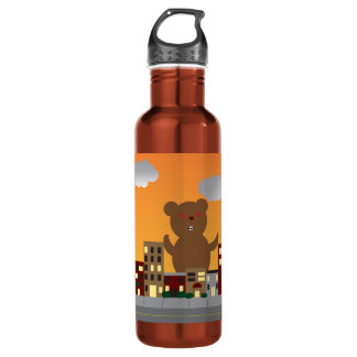 Monster Bear Liberty Bottle 24oz Water Bottle
