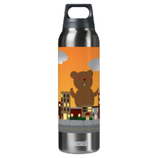 Monster Bear Liberty Bottle 16 Oz Insulated SIGG Thermos Water Bottle