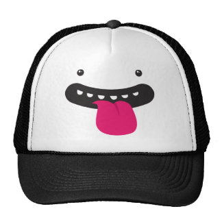 monster big silly face trucker hat