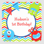 Monster Birthday Favor Stickers