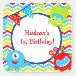 Monster Birthday Favor Stickers