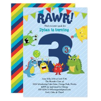 monster birthday party invitation - Monster Birthday Party Invitations