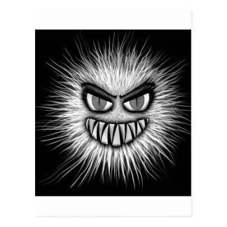 Monster Black And White Face Picture Postcard