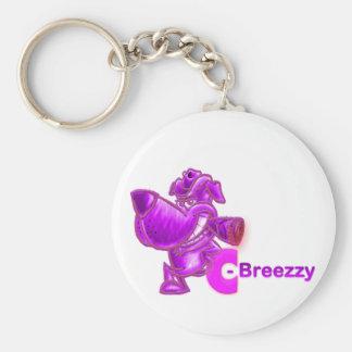 """Monster """"Breezzy"""" Basic Round Button Keychain"""