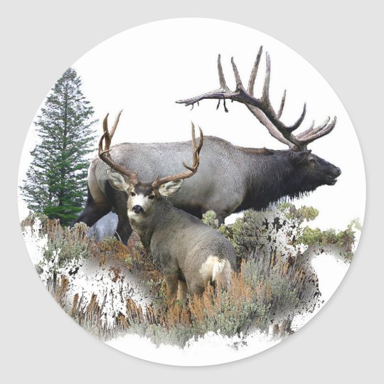 Monster bull trophy buck classic round sticker