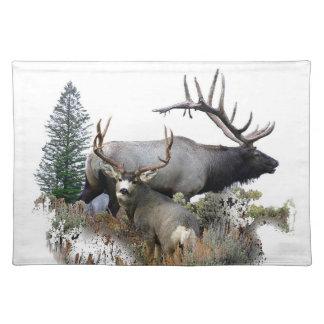 Monster bull trophy buck cloth place mat