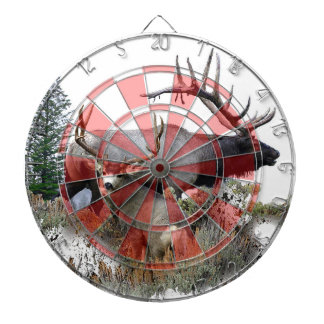Monster bull trophy buck dart board