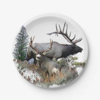 Monster bull trophy buck paper plate