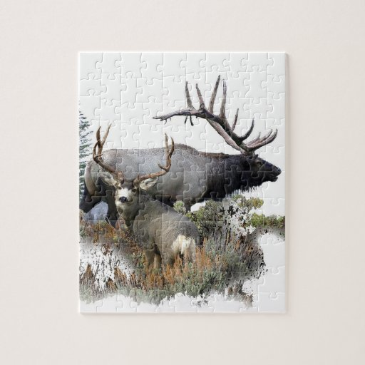 Monster bull trophy buck puzzle