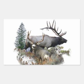 Monster bull trophy buck rectangular sticker