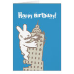 Monster Bunny Rules Greeting Card
