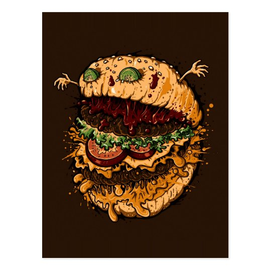 Monster Burger Postcard