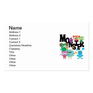 Monster Business Card Template
