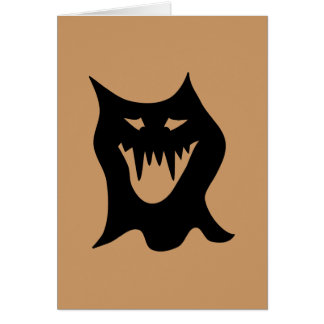 Monster Cartoon, Black. Card
