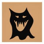 Monster Cartoon, Black. Invitation