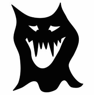 Monster Cartoon, Black. Photo Cutout